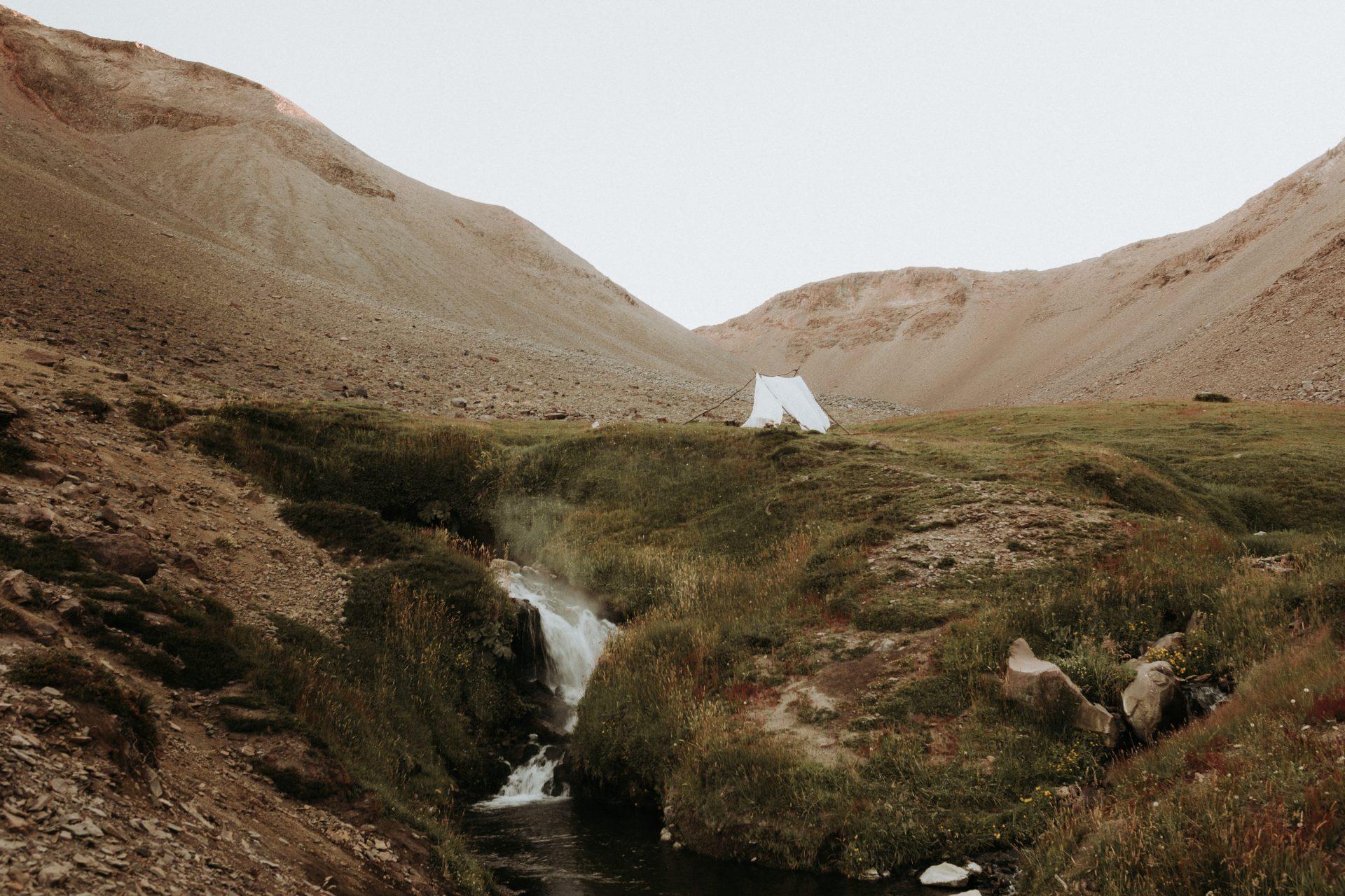 Campsite of Adventure wedding in Chile