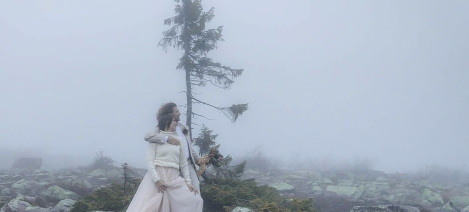 adventure elopement in sweden at a waterfall