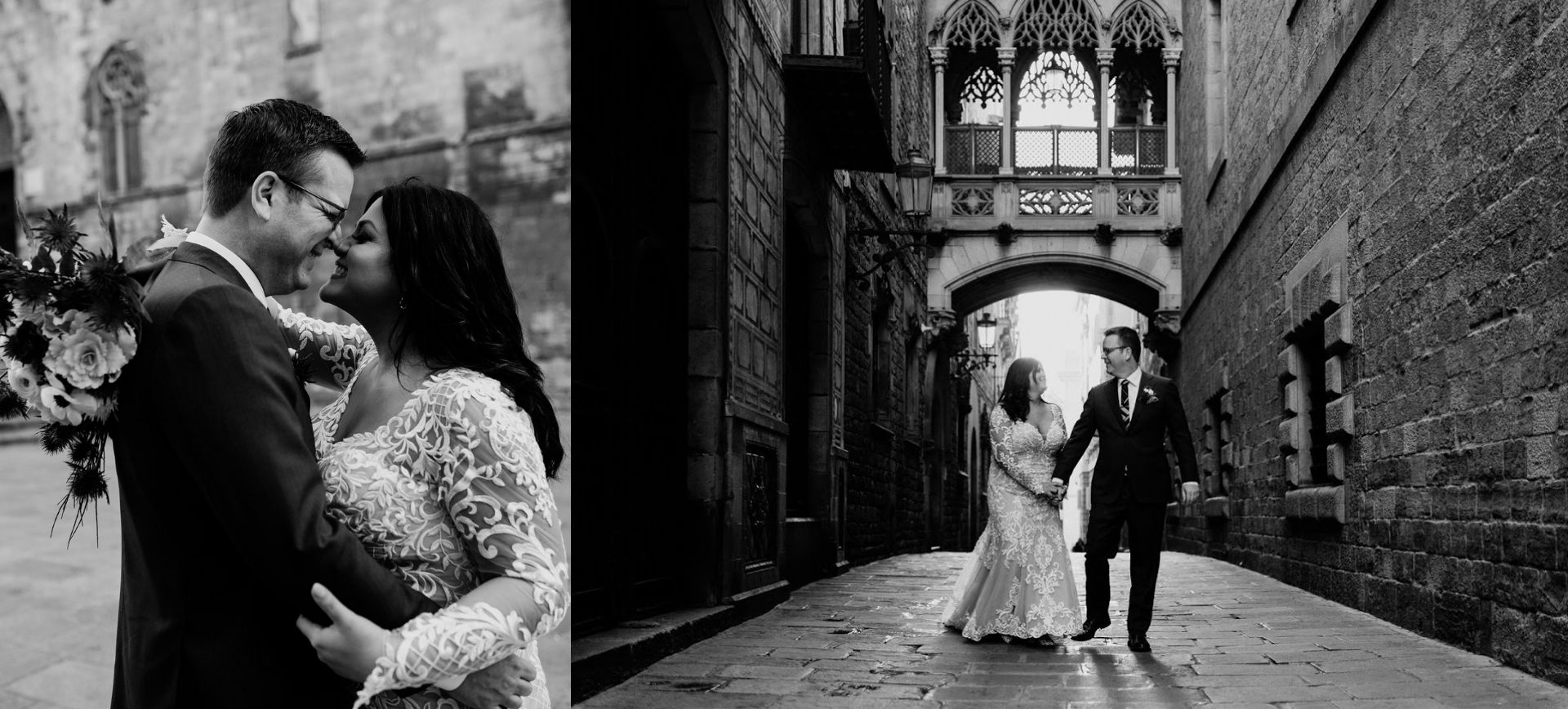 barcelona elopement package - gothic quarter wedding