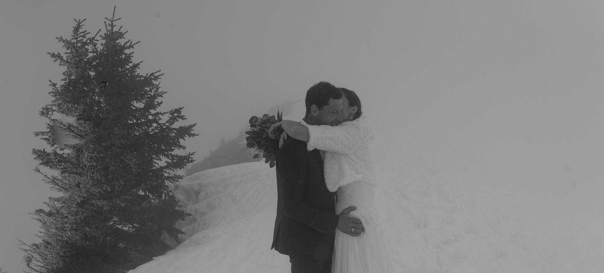 austria winter elopement package in the alps