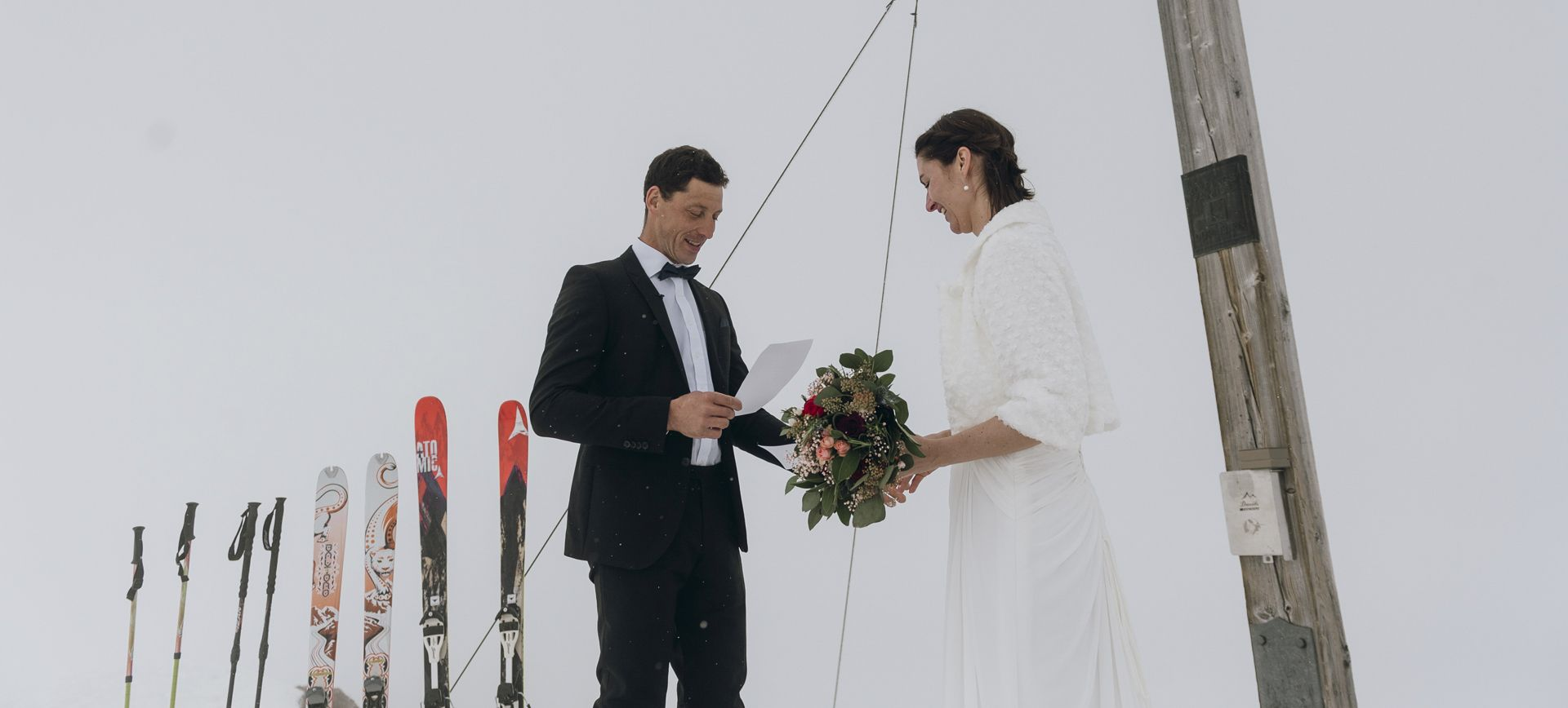 austria winter mountain elopement package with skiing and welness
