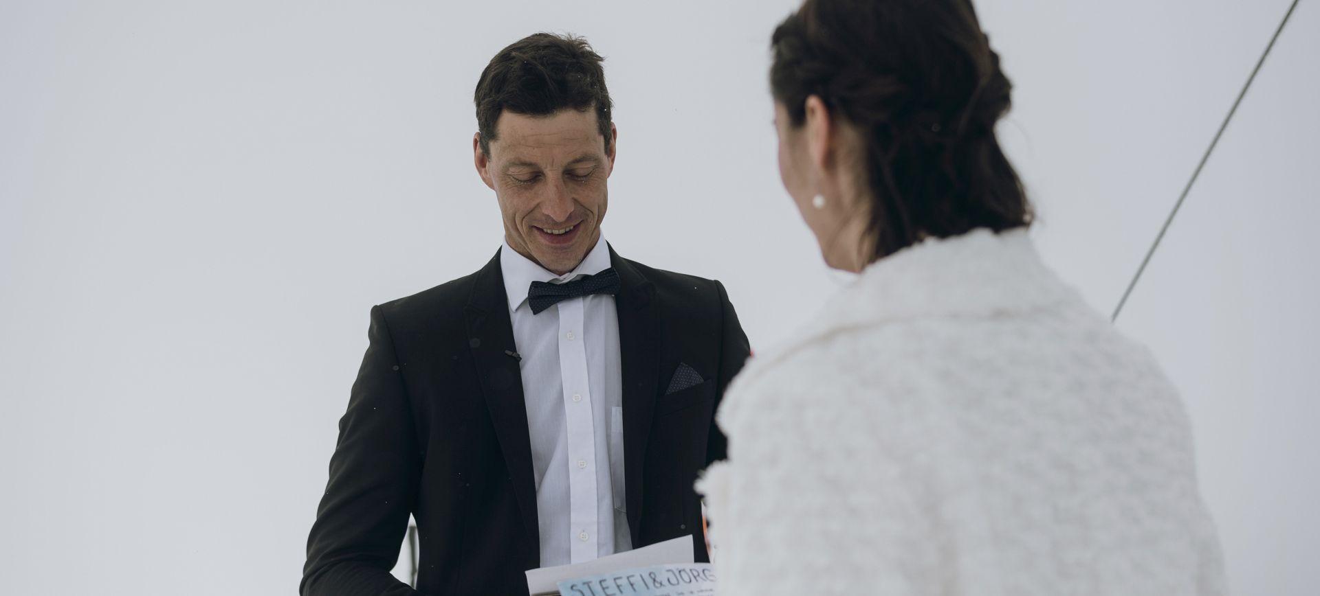 mountain elopement ceremony in austria
