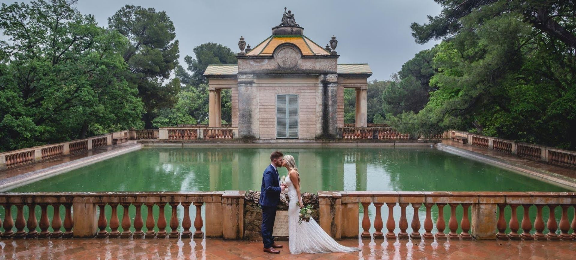 Barcelona intimate wedding in Labyrinth Park