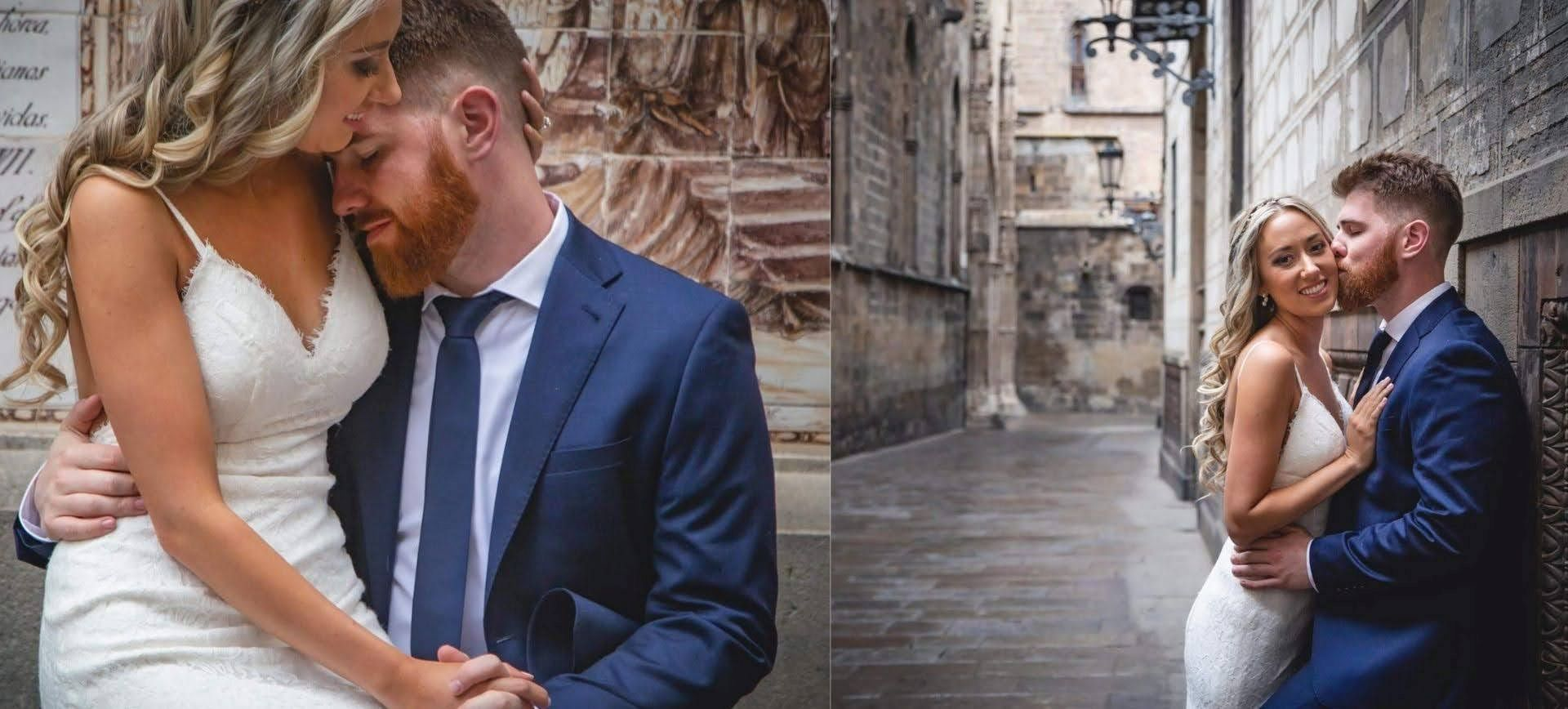 Barcelona wedding day at Gothic quarter